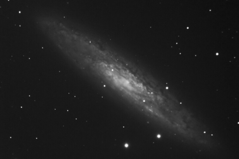 Caldwell C65 - NGC253 - Sculptor, Silver Coin, Silver Dollar Galaxy - 12/7/2016 (Processed luminance stack)
