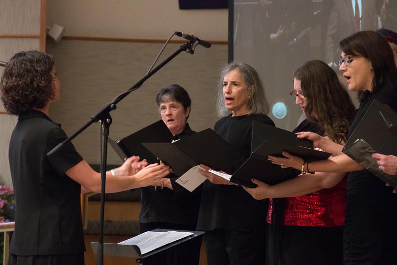Leah Kocsis directs  Ahavat Shir -- Tour de Rudolph -- Retirement tribute for Rabbi Bill Rudolph, Congregation Beth El, Bethesda, MD, May 17, 2015