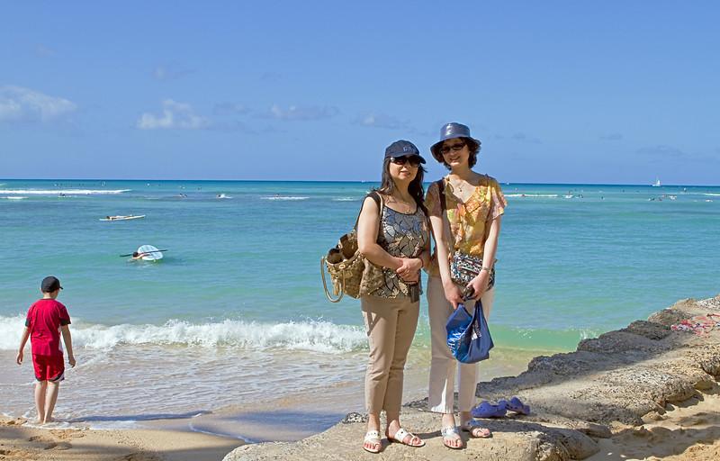 Nancy, David and Mr. Zhou: Oahu Hawaii