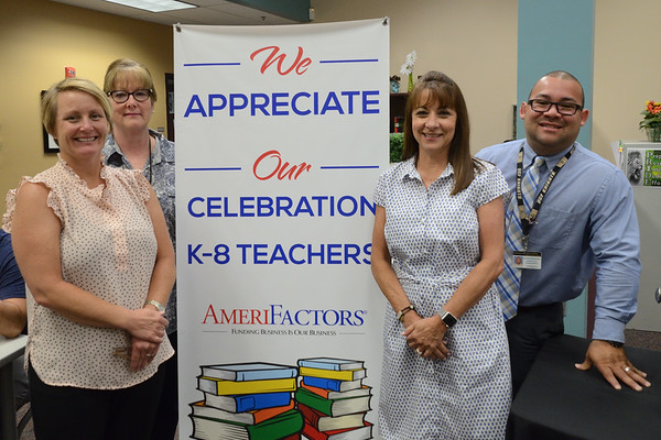 Celebration K-8 Teacher Appreciation Breakfast Sponsored by AmeriFactors