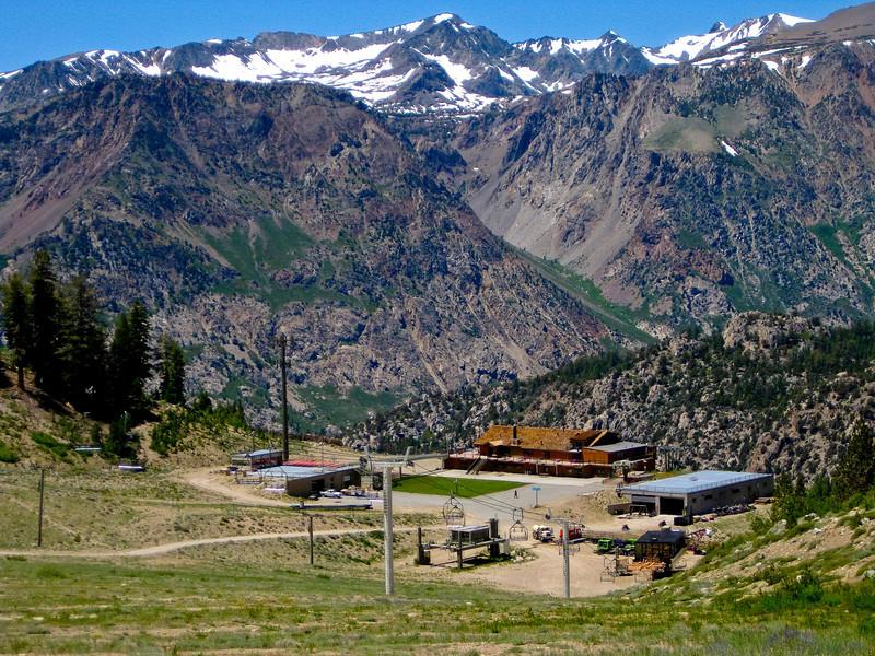 June Lake Ski Resort area. See map Yellow line