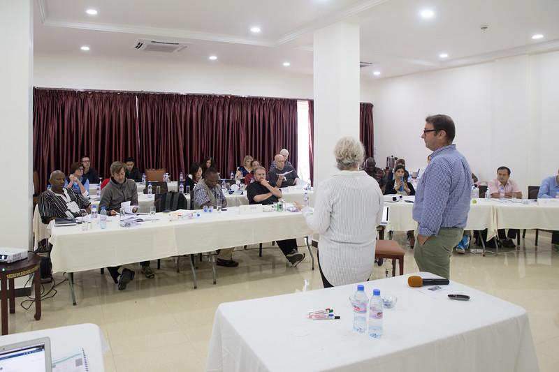 Monrovia, Liberia October 6, 2017 - Short Term Observers receive training prior to the election.