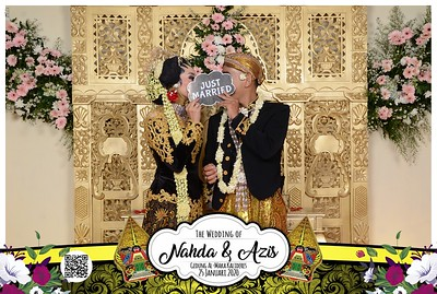 Nahda dan Azis Wedding Photobooth Gallery