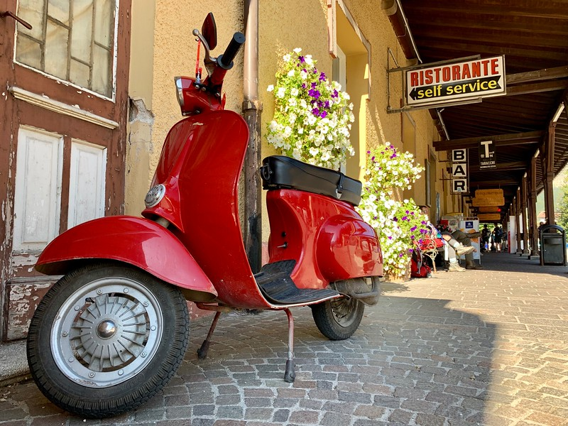Vespa on the street - Italy Packing List