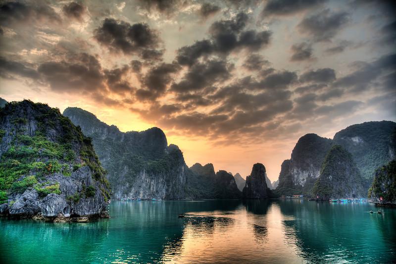 Karst topography in Vietnam.