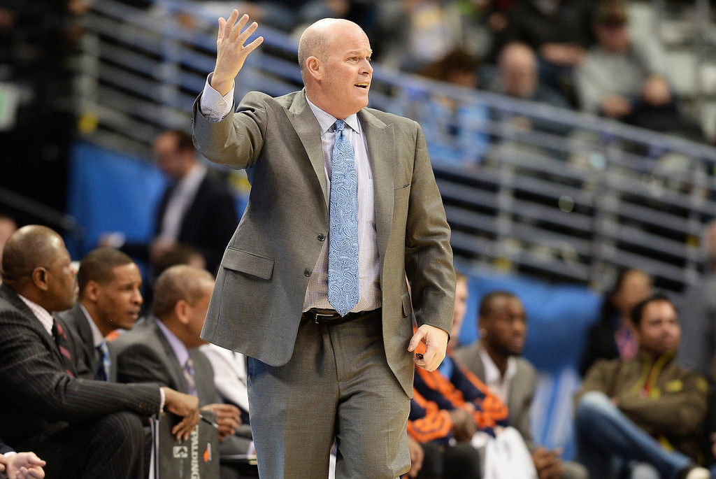 . Charlotte Bobcats Head Coach Steve Clifford is in the game against the Denver Nuggets at Pepsi Center. (Photo by Hyoung Chang/The Denver Post)