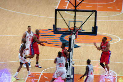 Pistons vs. Knicks - March, 2008