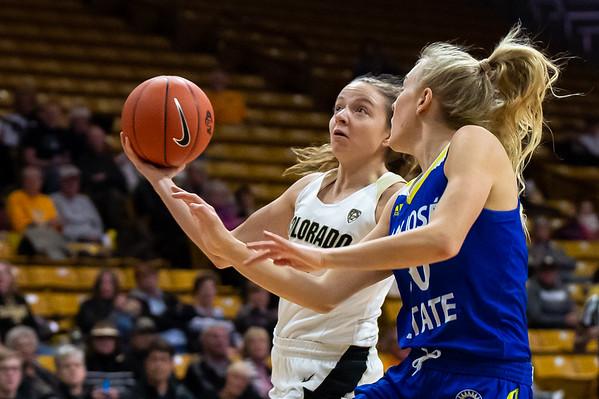 PAC12 - Women's Basketball - CU vs San Jose State - 20181206