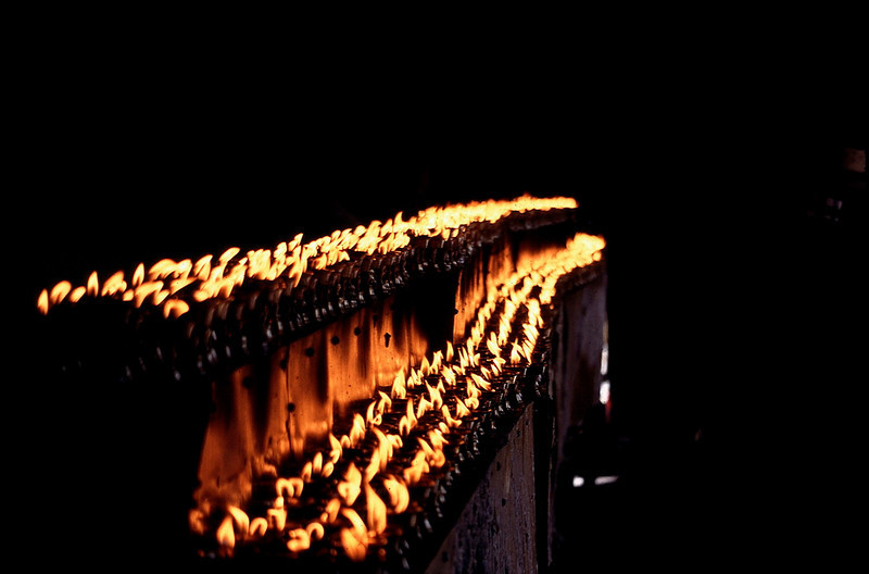 yak butter candles in Jokhang Temple