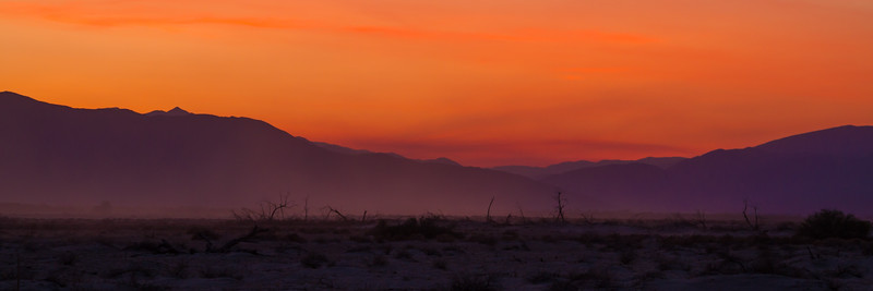 Desert Sunset. Sunset over the Palomar Mt. area as seen from Anza- Borrego State Park