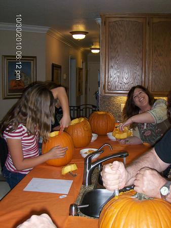 Halloween Eve Pumpking Carving Oct 30, 2010