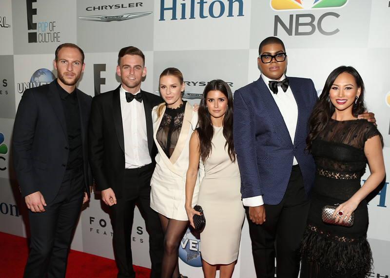 . TV Personalities Brendan Fitzpatrick, Jonny Drubel, Morgan Stewart, Roxy Sowlaty, EJ Johnson and Dorothy Wang attend Universal, NBC, Focus Features and E! Entertainment 2015 Golden Globe Awards After Party sponsored by Chrysler and Hilton at The Beverly Hilton Hotel on January 11, 2015 in Beverly Hills, California.  (Photo by Jesse Grant/Getty Images for NBCUniversal)