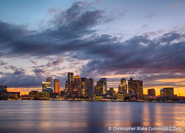 Sunset over Boston - Downtown
