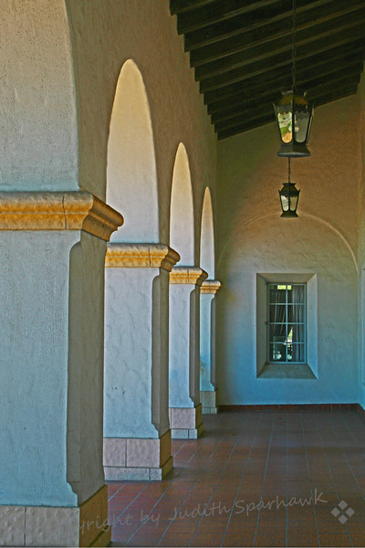 The Post Office Arches ~ Architectural detail of historic Post Office, Redlands, California