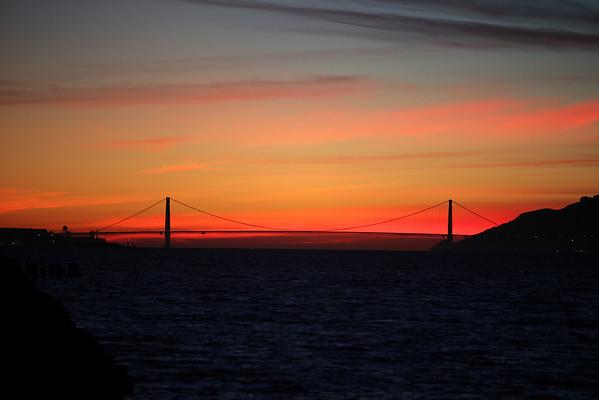 Berkeley Municipal Pier Sunset - Thursday February 10th, 2011