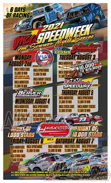 Clay County - Stock Car Special - IMCA Speed Week - 8 - 2 - 21