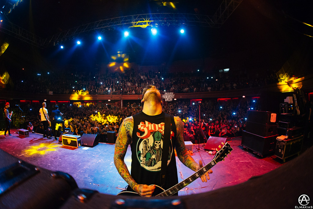 Neil Westfall of A Day to Remember live in Chile by Adam Elmakias