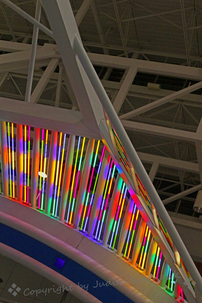 Neon Triangle ~ Taken at Denver International Airport.