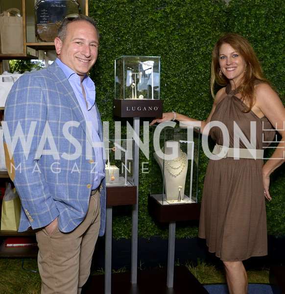 Lugano CEO Moti Ferder and Dana Prescutti,  NSLM 2019 Polo Classic Great Meadow Sep 15 2019 Photo by Nancy Milburn Kleck