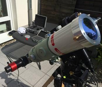 Daystar Chromosphere Ha eyepiece on FSQ-85