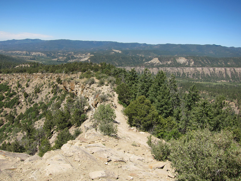 This trail from the pueblo to the kiva has been in use for over a thousand years at Chimney Rock.