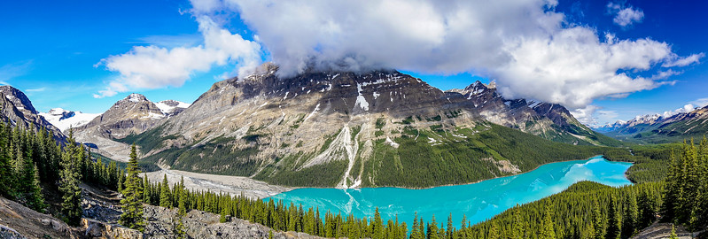 Peyto Lake with Clouds