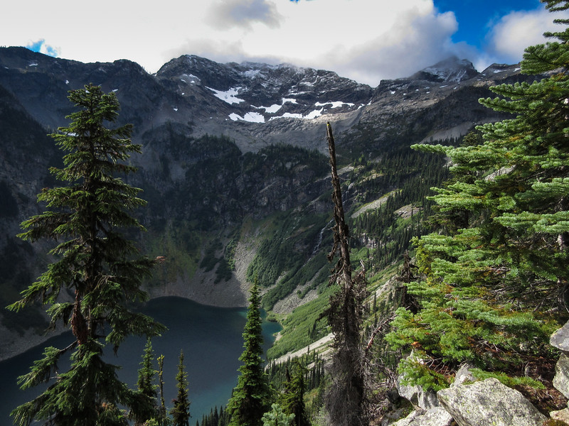 The photo of Rainy Lake and the high country.