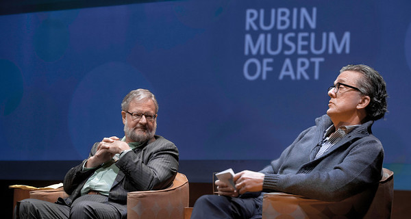 Philanthropist David Rockefeller, Jr. and novelist Kurt Andersen