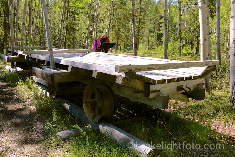 Log Tramway Display at Canyon City Townsite