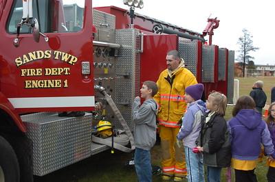 Sands Twp. Fire Dept. at Sawyer School 2004
