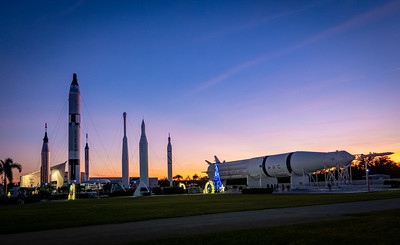 Rocket Garden at Dusk