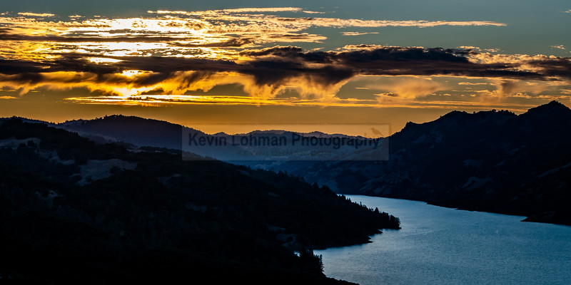 Sunset over Lake Sonoma