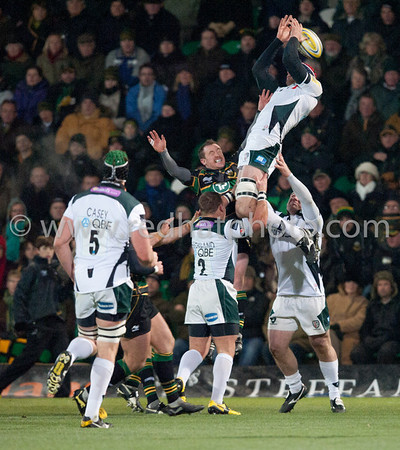 Northampton Saints vs London Irish, Aviva Premiership, Franklin's Gardens, 26 November 2010