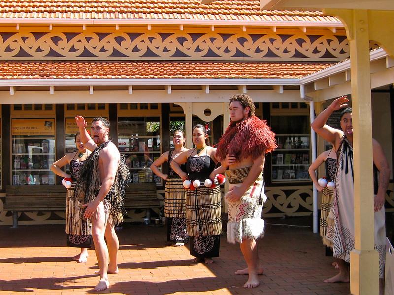 Maori performers in Rotorua