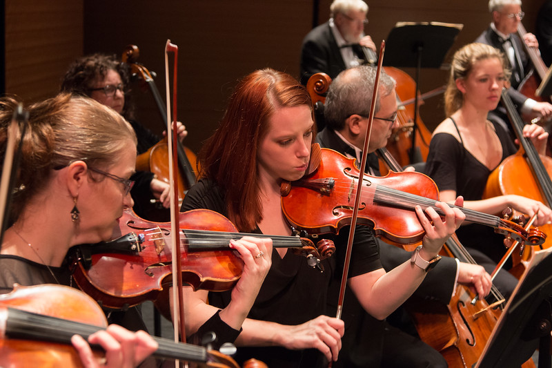 Jessica Milli, center (with Sharon Bartley  at left) --  Symphony of the Potomac at the Cultural Arts Center, Silver Spring, MD, February 2018.