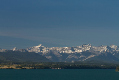 Mountains over Ghost Lake, Alberta