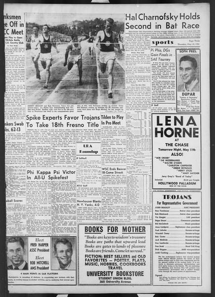 Daily Trojan, Vol. 42, No. 127, May 10, 1951