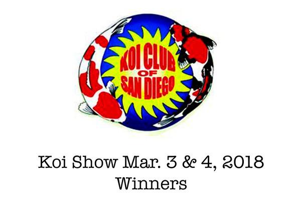Koi Show Winners 2018