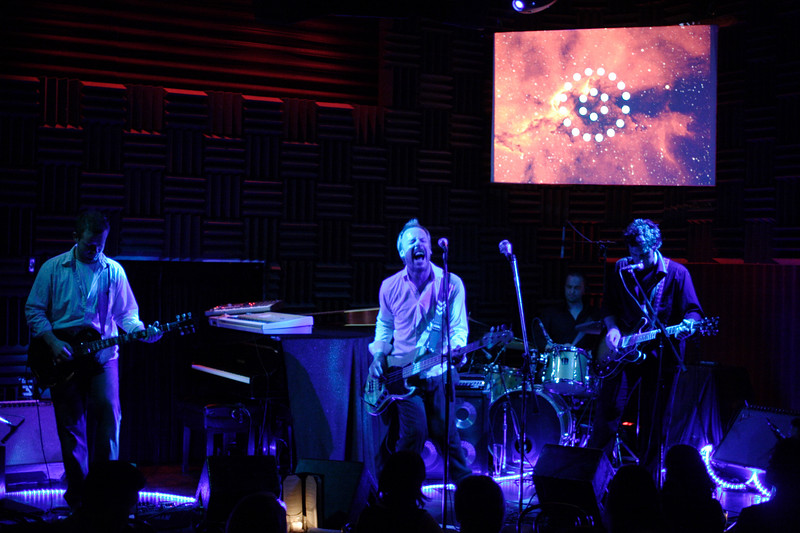Rising stars STAND played a memorable sold-out show at Joe's Pub at the Public Theater in New York City on May 29, 2007.  The band played songs mostly from their latest full-length album, the elegantly layered _Travel Light_.  Photo © Shams Tarek (www.shamstarek.com)