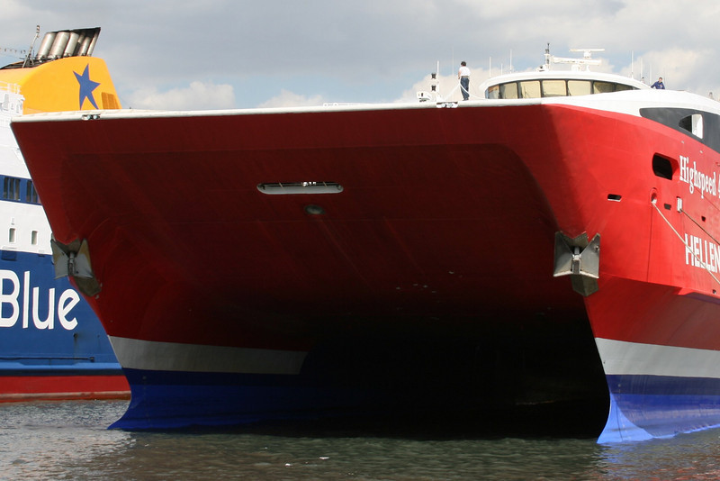 2008 - HSC HIGHSPEED 4 in Piraeus : the bow.