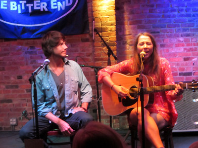 2012-09-17 Hanna Leess with Parker Ainsworth at The Bitter End in NYC