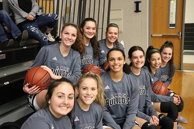 Lady Bulldogs varsity and JV at Whitewright, 12/17/2019