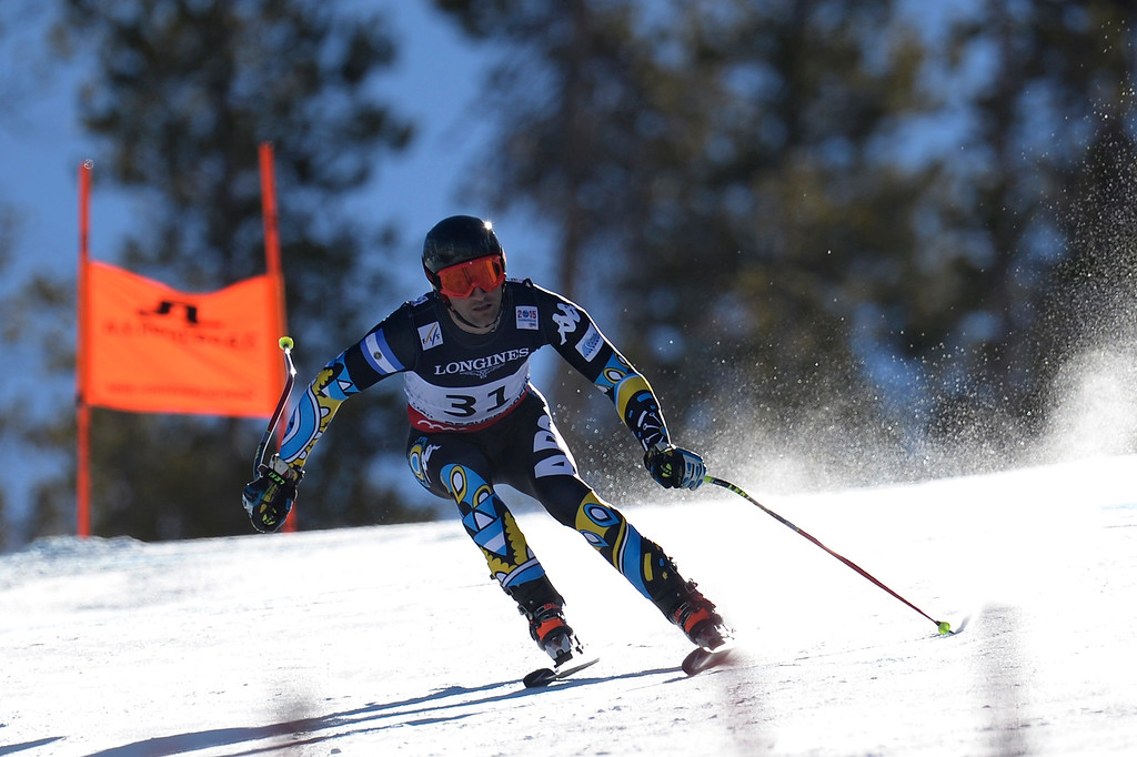 . BEAVER CREEK, CO - FEBRUARY 08: Birkner C. Simari of Argentina competes during the men\'s alpine combined final. FIS Alpine World Ski Championships 2015 on Sunday, February 8, 2015. (Photo by AAron Ontiveroz/The Denver Post)