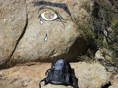 Sandia Mtns. - Eye of the Sandias-Tree In The Notch Loop Hike  1-1-08