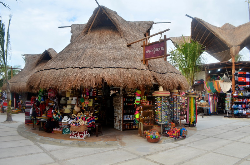 Tourist shopping area at port in Costa Maya.