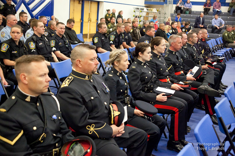 Havre Daily News/Floyd Brandt  Police came from all over the state to Havre for the Montana Law Enforcement Memorial Monday with guests from Canada the Royal Canadian Mounted Police.