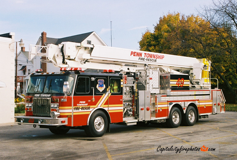 Penn Township Truck 49: 2001 E-One Bronto Skylift 2000/300 118'
