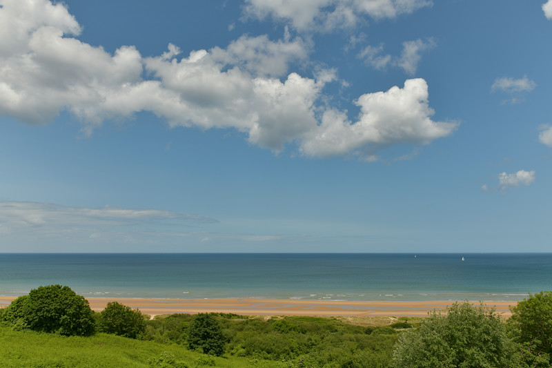 Omaha Beach from the American Cemetery at Colleville Sur Mur