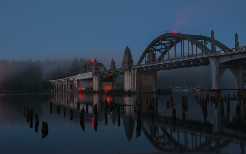Gothic bridge in Florence, Oregon