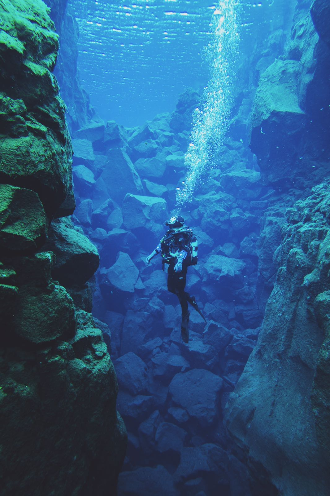 Scuba diving the Silfra Fissure